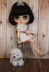 Princess Kiki and the royal doggie:)
