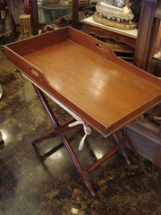 "MAHOGANY BUTLER'S TRAY ON STAND. • <a style=""font-size:0.8em;"" href=""http://www.flickr.com/photos/51721355@N02/13432981014/"" target=""_blank"">View on Flickr</a>"
