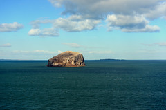 The Bass Rock and the Firth of Forth (iancowe) Tags: sea lighthouse castle rock clouds scotland bass north may scottish east stevenson forth plug volcanic northberwick berwick isle seabird gannets lothian gannet firth firthofforth bassrock tantalloncastle isleofmay tantallon nlb gannetry