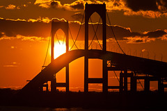 Sunset Bridge (Ron Stella) Tags: bridge sunset sun water rhodeisland newport rhody newportbridge