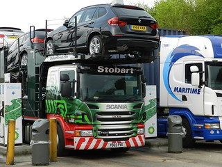 PO63PVE A9324 Stobart Automotive Scania Car Transporter 'Lisa Anne'
