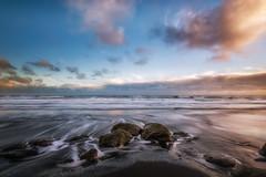 Waverley Beach (Nick Twyford) Tags: sunset newzealand seascape clouds blacksand rocks waves nz northisland westcoast wanganui taranaki lateafternoonlight colourimage leefilters waverleybeach nikond800 lee09nd lee06gndhard phottixgeoone nikkor160350mmf40