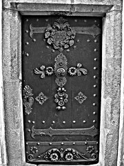 1553 (svatava_teflov) Tags: door camera wood old blackandwhite bw black detail building history metal stone wall closeup canon wooden hometown details noflash oldhouse stonewall bandw heavy hdr metaldoor 1553 woodendoor canoncamera