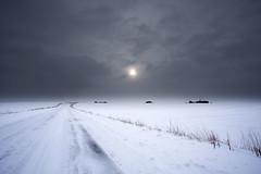 No. 0984 Midwinter (H-L-Andersen) Tags: road winter snow cold clouds rural landscape dramatic 1740mm sne 6d canoneos6d hlandersen