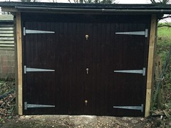 Pair of side hung timber doors in Jevington. December 2014