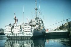 1992 03 00 - Seattle WA - Pier 90 - PLEDGE (MSO 492) rigged for double O (BlackShoe1) Tags: usnavy minesweeper pledge mso pacificfleet minegroupone usspledge usspledgemso492