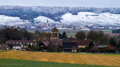 churches from the Champagne area. (Patrick Mayon) Tags: winter snow france landscape vineyard champagne hiver neige paysage vignoble 2015 montagnedereims chamery