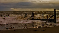 'Warren'winter-morning. (John's taken it. Peace) Tags: morning winter sea sky beach clouds sand warren folkestone groynes beacheslandscapes