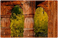 Traditional wooden gate from  Maramures (2) (Ioan BACIVAROV Photography+3.500.000visits-Thanks) Tags: wood art rural handicraft wooden woodlands gate village traditional culture traditions villages ancestors popularart romanian woodenchurch maramures dacian woodengates centuryold ruralculture carvedwoodengate