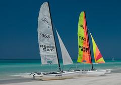 Cuban Impression (westrail) Tags: blue sea beach strand lens boot nikon meer sailing urlaub cuba catamaran blau nikkor varadero segelboot kuba azur d300 karibik omot afs1735