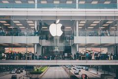 Mega Apple (]vincent[) Tags: china old portrait people hk apple mobile buildings phone sony vincent hong kong 100 iv mk rx