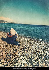 Photo accepted by Stockimo (vanya.bovajo) Tags: old winter sea baby playing cold beach one toddler stones year clothes caucasian iphone iphonegraphy stockimo