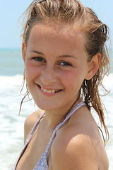 Taylor Beach 2016 5 14 (meganruthbrown) Tags: ocean portrait beach water sand florida coconut blonde cocoa cocoabeach floridabeaches beachportrait