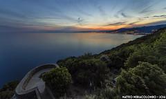 Dalle Batterie (Matteo Nebiacolombo) Tags: sunset costa coast riviera tramonto liguria bunker genova camogli batteria rivieradilevante levante puntachiappa rivieraligure montediportofino