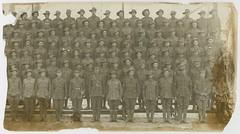 Eleventh reinforcements for the 27th Battalion, c1916 (State Library of South Australia) Tags: wwi worldwari worldwarone soldiers aif 27thbattalion 27thinfantrybattalion arthurbrucedurdin clarenceeverardpellew mitchamcamp
