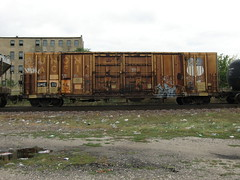 09-01-10 (32) (This Guy...) Tags: road railroad car train graffiti box graf rail rr traincar boxcar graff 2010