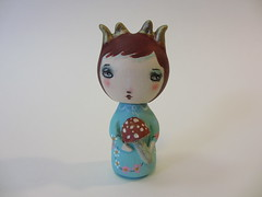 forest dweller custom kokeshi wood peg doll (amber leilani) Tags: kokeshi woodpegdoll