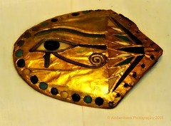 The Eye of Horus - Detail from Tutankhamun's chariot (Amberinsea Photography) Tags: flower golden lotus egypt cairo tutankhamen tutankhamun cairomuseum theeyeofhorus amberinseaphotography