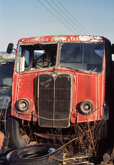 AEC Mammoth Major (2) at Doune. Mar'83. (David Christie 14) Tags: lorry scrapyard doune aecmammothmajor