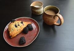 Ceramics set 1 (t. chen) Tags: food breakfast table ceramics tea handmade plate mug pottery scone stoneware