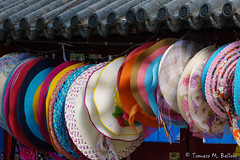 DSC02688b (tomaso.belloni) Tags: china color hat shop photography colorful asia market outdoor traditional beijing nobody row choice summerpalace typical selling