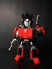 Chibi-Swipe Bot Front 1 (Sam.C MOCs) Tags: lego transformers sideswipe chibi moc mech robot anime scifi car lamborghini countach