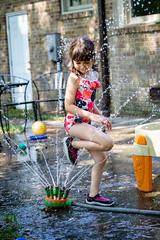 DSCF0692 (djandzoya) Tags: water backyard play candid sprinkler fujifilm provia fenya