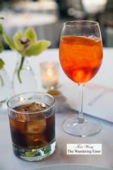 Our cocktails - Boulevardier and Aperol Spritz (thewanderingeater) Tags: atlanta dinner georgia buckhead finedining restauranteugene