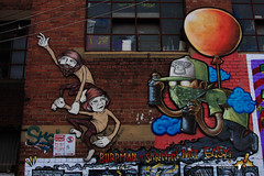 Fitzroy/Collingwood 16-05-16 (Divided Creative) Tags: city urban streetart art outdoors graffiti mural collingwood fitzroy australia melbourne victoria choq burpman juddyroller