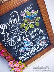 Birds & Bloom Chalkboard 3 (Nupur Creatives) Tags: heartfelt creations heartfeltcreations