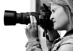 Street Portrait (patrick_milan) Tags: street people blackandwhite bw woman white black girl monochrome women noir photographer noiretblanc femme nb rue fille blanc personne streetview gens photographe