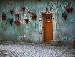 Český Krumlov doors (Sergei Zuyev) Tags: red czech cyan pinnaclephotography
