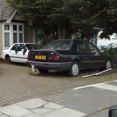 ¤ (uk_senator) Tags: white black ford sierra mk2 1991 sapphire