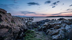 Just after sunset at Portencross Scotland