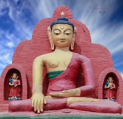Buddha - Vesak (Burning Heaven) Tags: nepal canon heaven buddha vesak purnima landspace t2i