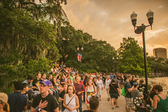 Lake Eola Candlelight Vigil (Michael Mendonca) Tags: lakeeolacandlelightvigil people place thing love pulse orlando orlandostrong orlandounited central florida happy fun sad memorial candles vigil support happiness gay pride lights city skyline bokeh history ucf buildings urban landscape street streetphotography victims massacre flowers crowd job memory neverforget plane clouds rainbow flags warmth nikon d810 sigma 50mm 24mm f14 lightroom