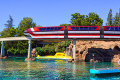 The Monorail & The Voyager (Michael Billick) Tags: colors photography nikon disneyland lagoon monorail anaheim resorts hdr amusementparks nikond3200 disneyparks findingnemosubmarinevoyage disneyphotography disneyphotoblog