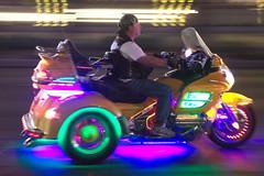 Cruising the strip (lenswrangler) Tags: vegas night lasvegas tricycle motionblur strip motorcycle thestrip lasvegasblvd digikam rawtherapee lenswrangler