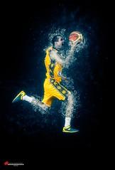 """Unstoppable"" (salas-3) Tags: basketballplayer photography nikon effect sport man yellow player basketball art photo concept"