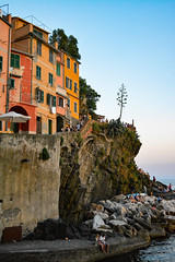 DSC_0313 (chriswalts) Tags: ocean travel sunset italy holiday cinqueterre