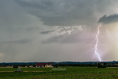Impact ramifi (Mathieu Descombes Photographie) Tags: light storm france weather landscape lightning thunder orage ain rhnealpes foudre
