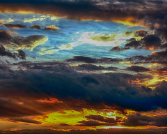 Heaven Opened (CDE1231) Tags: sun colors clouds dark photography dusk rays cde