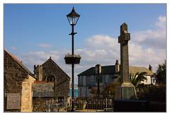 The Cross (Audrey A Jackson) Tags: windows sea church sign buildings memorial cornwall cross lamppost names railings stives canon60d 1001nightsmagiccity