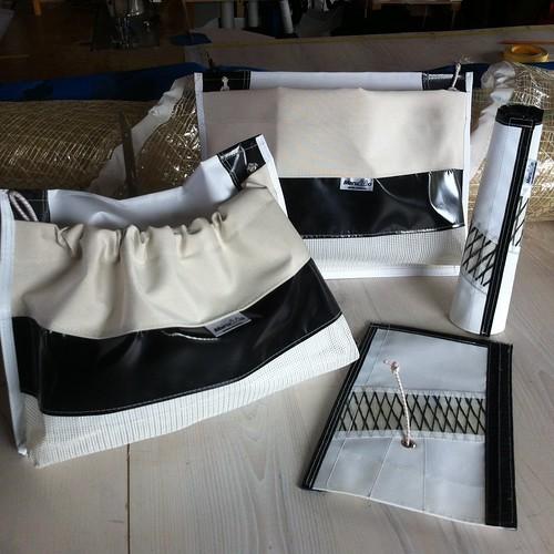 C55-Väskor rep och Vantskydd / Rope bags and Rigging protection