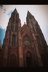 Architecture.. (Sanz'Y) Tags: morning travel blue sky sun church skyline architecture clouds canon karnataka mysore sanzy
