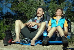 Resting After A Long walk (Alan1954) Tags: two holiday spain europe mallorca walkers 2015 ballearics