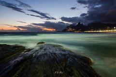 @Arpoador beach #RiodeJaneiro #Brazil (Jos Eduardo Nucci) Tags: blue autumn sunset sea summer sun holiday black color green art beach water beautiful riodejaneiro clouds geotagged fun outdoor ipanema leblon joseduardonucci
