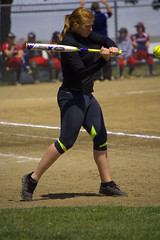 Coach (swong95765) Tags: woman sports ball coach hit exercise bat softball warmup