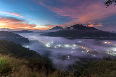 Light Trails Beneath the Clouds - Bali Photography Tour (Pandu Adnyana Photography Tour) Tags: travel bali sunrise indonesia landscape tour hill guide batur pinggan balitravelphotography baliphotographytour baliphotographyguide balilandscapetour balilandscapephotography