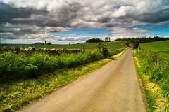 the road to Fa'side castle (tattie62) Tags: road sky building castle history clouds landscape scotland historic eastlothian fasidecastle